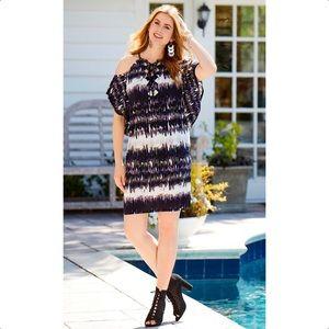 NEW Cato 14/16, 18/20 Cold Shoulder Tie Dye Dress