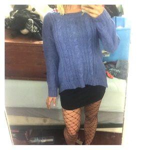 Periwinkle hi-lo sweater
