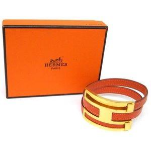 Authentic Hermes Chèvre H Pusu Pusu Wrap Bracelet