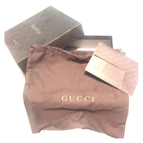 c136380be2529b Gucci Accessories   Box With Dustbag And Receipt Holder   Poshmark