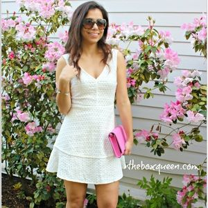 CUPCAKES &CASHMERE Matilda Eyelet Fit &Flare Dress