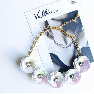 HELLO FALLJ. Crew magnolia statement necklace