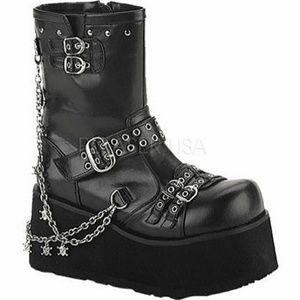 🖤Demonia Clash 430 Platform Chain Boots Size 11