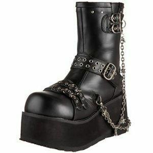Demonia Clash 430 Platform Chain Boots Size 11