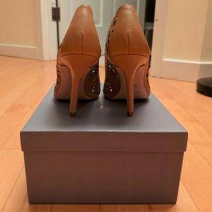 Aerin Shoes - NWB Aerin Flamande Tan Laser Cutout Detail Pumps