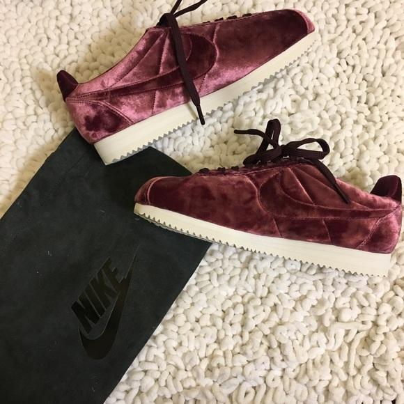 Nike Shoes | Nike Cortez Velvet Maroon