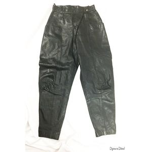 Vintage Pants - Vintage K.K. Berlin Leather Black Moto Pants