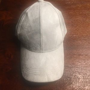 Gray Faux Suede Baseball Cap Phase 3 from Nordies