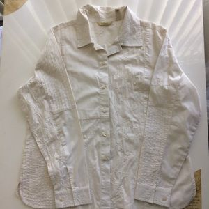 [becamel] Woman's Embroidered Shirt White. Size XL
