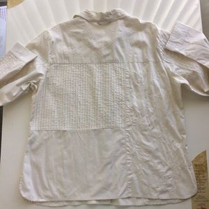 becamel Tops - [becamel] Woman's Embroidered Shirt White. Size XL
