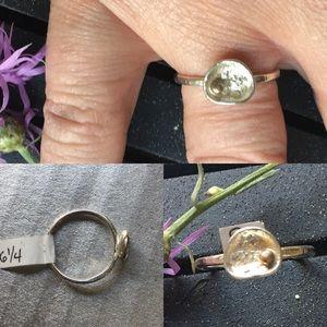 Sterling silver artisan boho ring, size 6.25