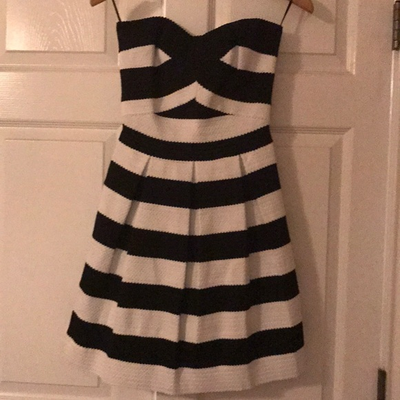 Express black and white bandage dress