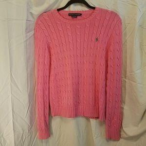 Final RALPH LAUREN pink sweater, size Medium