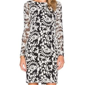 Alice + Olivia Katy Embroidered Dress