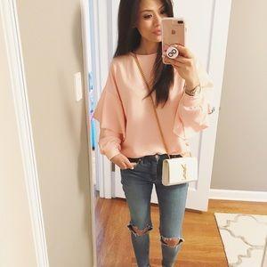 Megan Ruffle Sweater