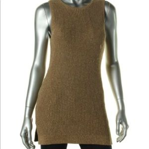 Ralph Lauren Women's Metallic Vest Sweater