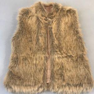 INC Ladies Faux Fur Vest Sz S