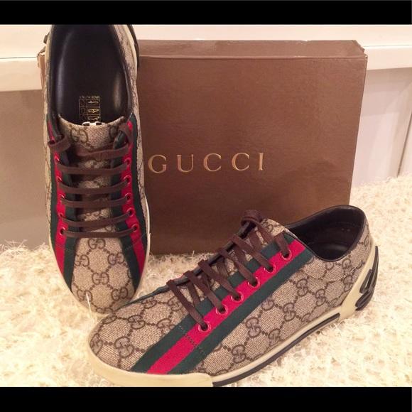 2bced49b7 Gucci Shoes | Classic Monogram Ebony Gg Sneaker | Poshmark