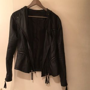 Black vegan leather jacket