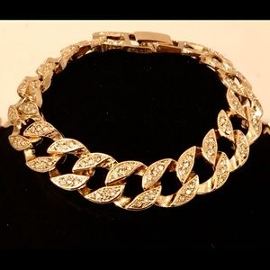 14K Gold Plated Iced Out Cuban Bracelet