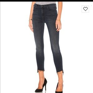 Mother step fray jeans