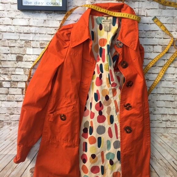 anthropologie elevenses Jackets & Blazers - Anthropologie sz 4 Elevenses Cotton Retro Trench