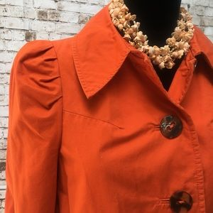 anthropologie elevenses Jackets & Coats - Anthropologie sz 4 Elevenses Cotton Retro Trench