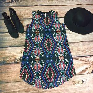 Colorful Geometric Print Dress