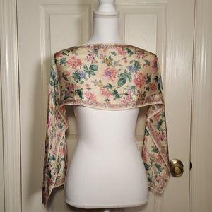 Vintage Liz Claiborne Floral Print Silk Scarf