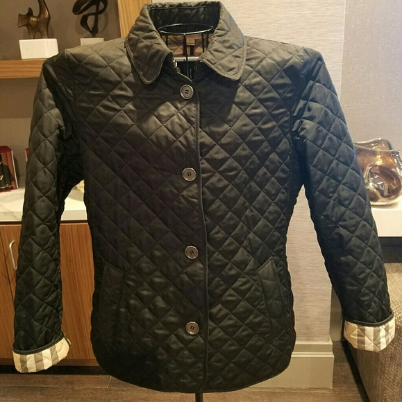 6c664eeb0047 Burberry Jackets & Blazers - Authentic Burberry Brit Women's Quilted Jacket  XL