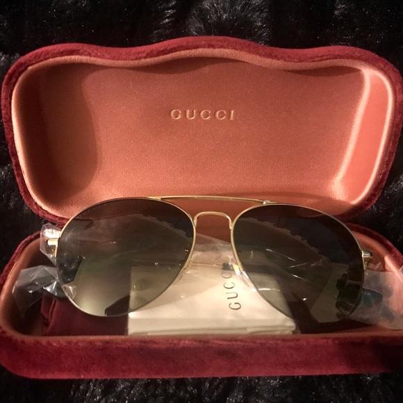 370cafd75dbf Gucci Accessories   Sunglasses Gg 0107 S 001 Gold Brown   Poshmark