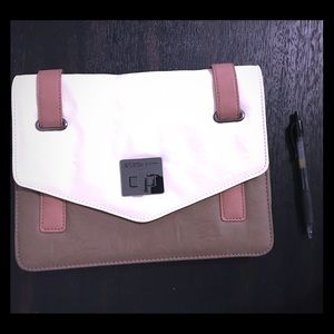 BCBGeneration Envelope Clutch Tan/Cream Never Used