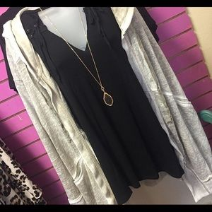 Sweaters - Hooded cardigan 2XL Black top not included.