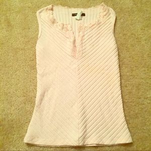 Light pink lace trimmed tank