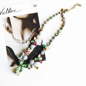 HELLO FALLJ. Crew green multi stone necklace