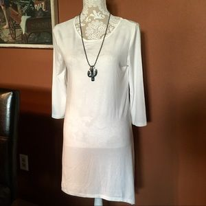 Tops - Asymmetrical Ivory Tunic Dress