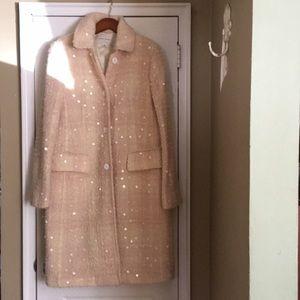 Banana Republic sequin wool coat Size L