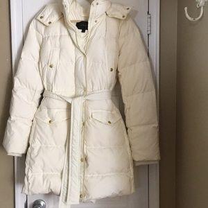J crew Wintress down puffer coat XL