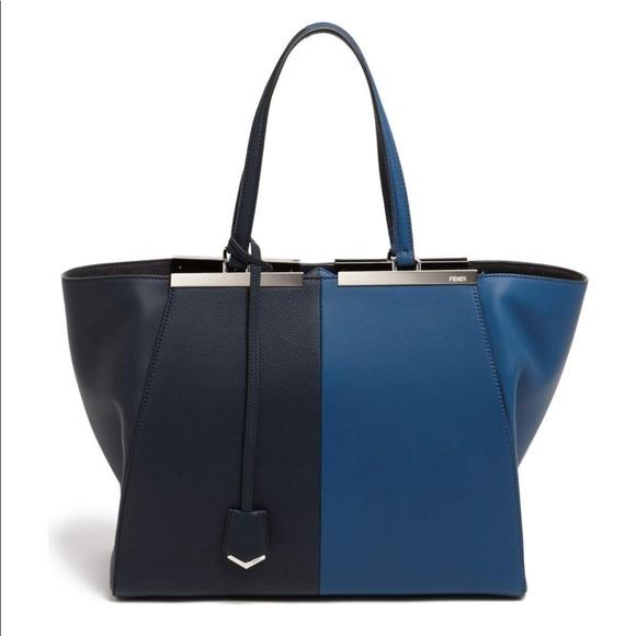 3f094d1951f1 Fendi  3Jours  Bicolor Leather Shopper. NWT
