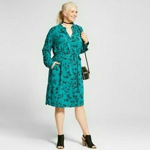 (AVA & VIV) Plus size Turquoise dress size 3x