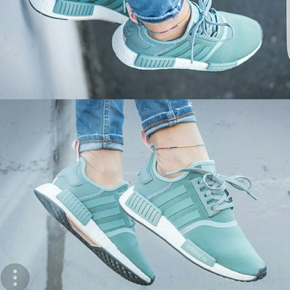 14e8679aa adidas Shoes - Adidas NMD R1 Women Green Pink Authentic