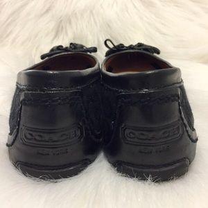 Coach Shoes - COACH Monogram Tassel Ballet Flats