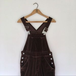 Vintage Old Navy velvet overalls