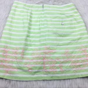 Lady Hagen Shorts - Lady Hagen green embroidered floral golf skort