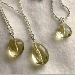 1 LEFT Healing Lemon Quartz Pendant Necklace! 💛