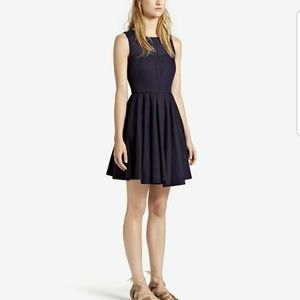 REISS Alina Contrast Panel Dress