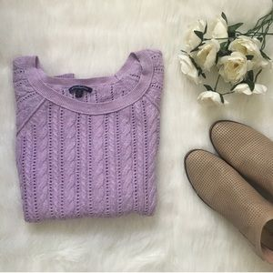 Light Knit Lilac Sweater