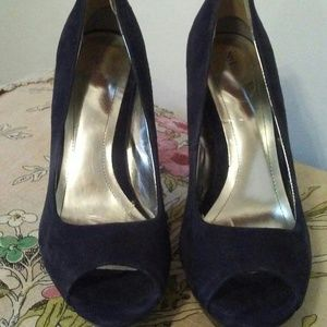 Style & Co. Navy Suede Peep-Toe Heel/Shoe