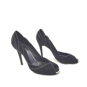 a294a90b79d Fendi Shoes - Out saturday FENDI Black Peep toe suede heels
