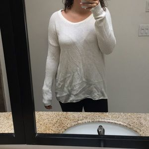 Millau cream colored sweater: open back